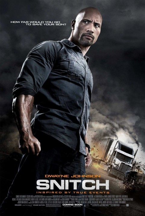 Snitch Poster Dwayne Johnson Muscles