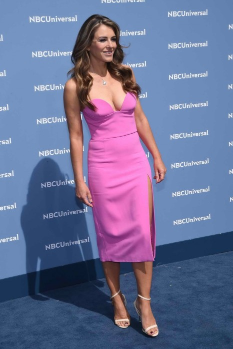 Elizabeth Hurley At The Nbcuniversal Upfront Presentation In New York Elizabeth Hurley