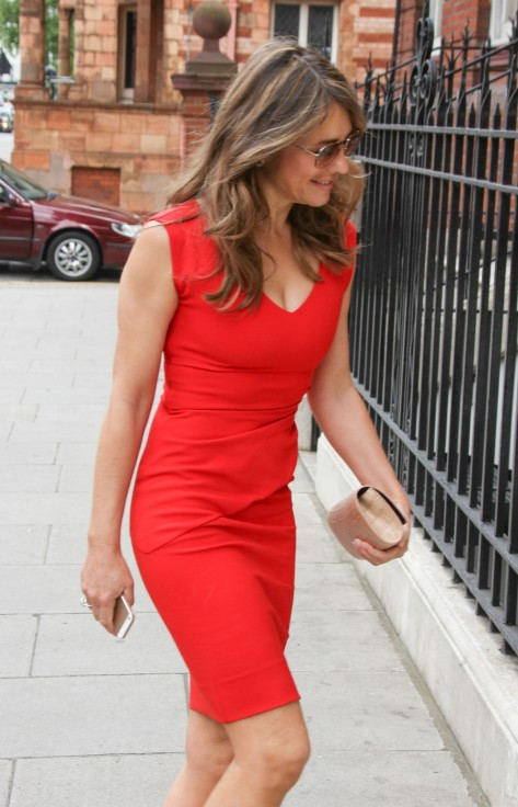 Elizabeth Hurley Looking Red Hot Out In London Elizabeth Hurley