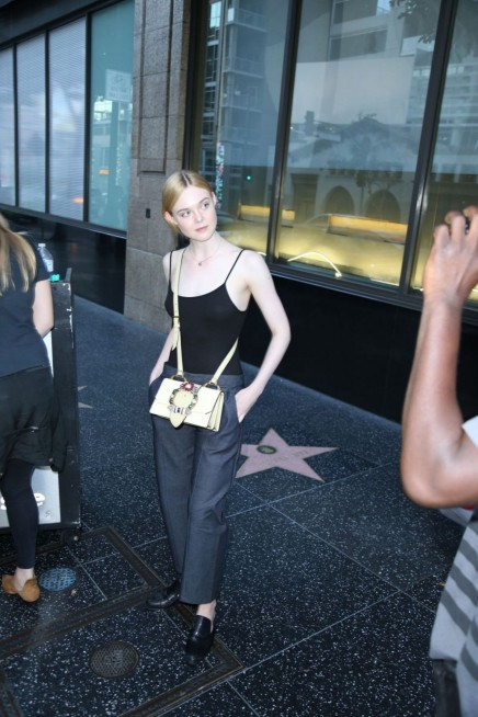 Elle Fanning Leaves Katsuya Restaurant In Hollywood Elle Fanning