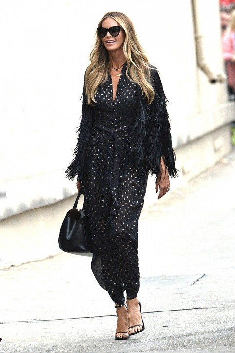 Elle Macpherson Arriving At Jimmy Kimmel Live In Hollywood