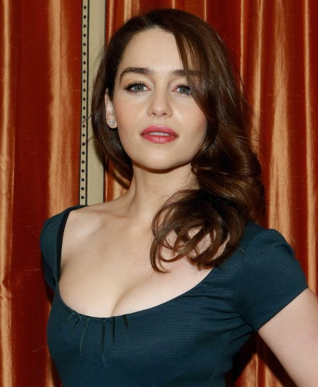 Emilia Clarke Green Dress Brea
