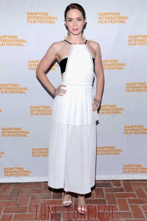 Emily Blunt Hamptons Film Festival Fashion Mendel Sophia Webster Tom Lorenzo Site