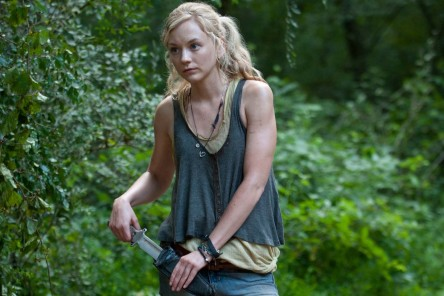 American Actress Emily Kinney With Knife Emily Kinney