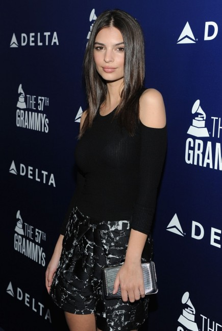Emily Ratajkowski Kotur Clutch Delta Airlines Grammy Kick Off Party February
