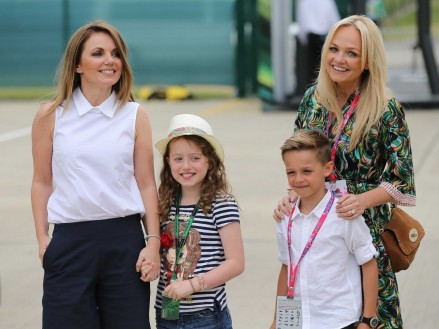 Former Spice Girls Geri Halliwell And Emma Bunton Brought Their Children To The Race Children