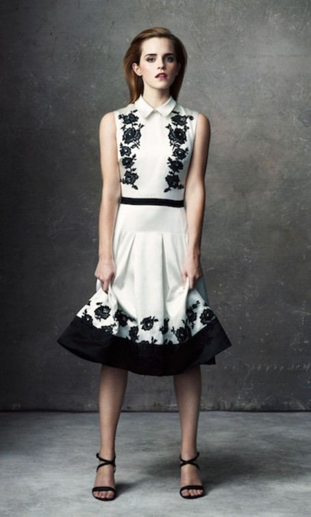 Emma Watson Net Porter White Dress Main Fashion