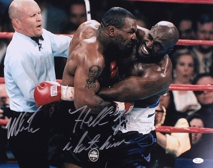 Main Mike Tyson Signed Photo Vs Evander Holyfield Inscribed Hell Yeah Bit Himjsa Coa Pristineauctioncom Evander Holyfield