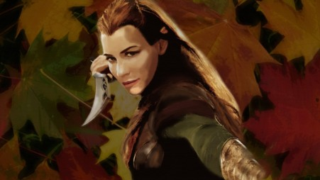 Elf Girl Evangeline Lilly Hobbit Leaves Photo Manipulation Photoshop Tauriel The Hobbit The Desolation Of Smaug Hobbit
