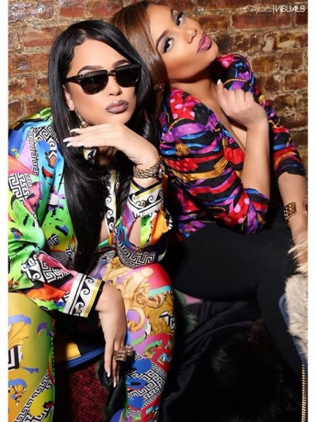 Emily Bs Fabolous Birthday Party Versus Versace Rainbow Printed Bomber Jacket And Matching Leggings Fabolous