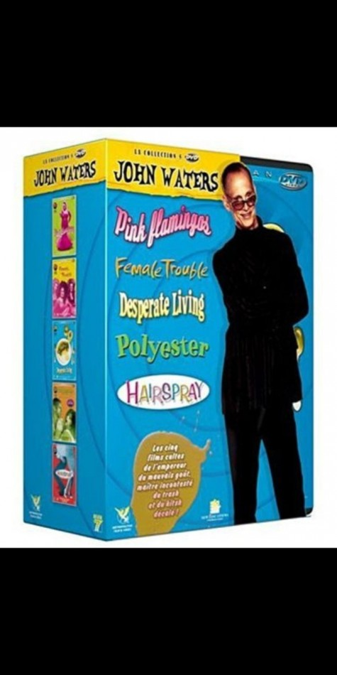 Photo Jaquette Dvd Coffret John Waters Pink Flamingos Desperate Living Female Trouble Polyester Hairspray Female Trouble