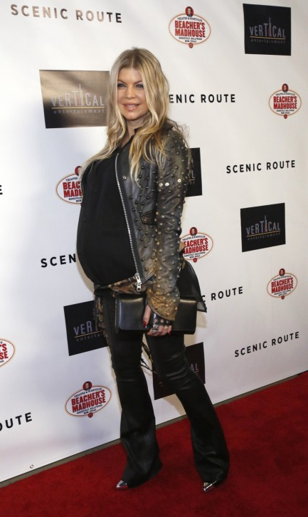 Fergie Duhamel Poses At The Premiere Of Scenic Route At The Chinese Theatre In Hollywood California August The Movie Opens In The On August Fergie