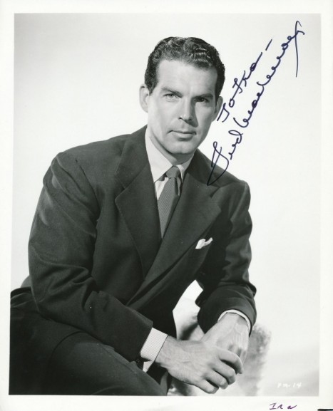 Main Fred Macmurray Signed Vintage Photo Pristineauctioncom