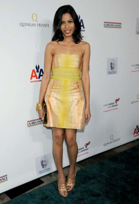Freida Pinto Th Annual Oscar Wilde Honoring The Irish In Film Awards Freida Pinto