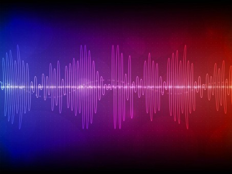 Blue Sound Waves Red Wave Frequency Frequency
