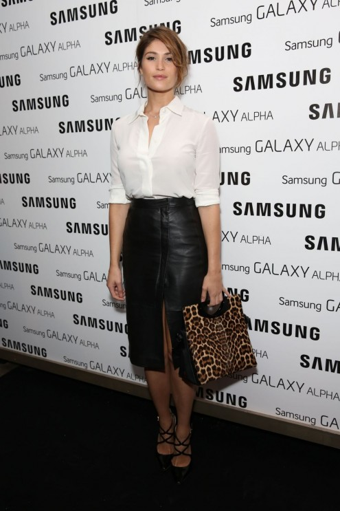 Gemma Arterton Arrived To Samsung Galaxy Alpha Launch Part In London