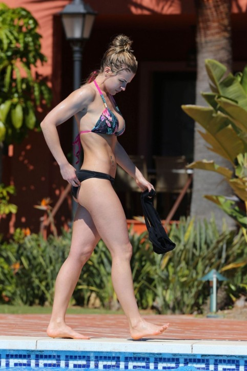 Gemma Atkinson In Bikini At Pool In Puerto Banus Gemma Atkinson