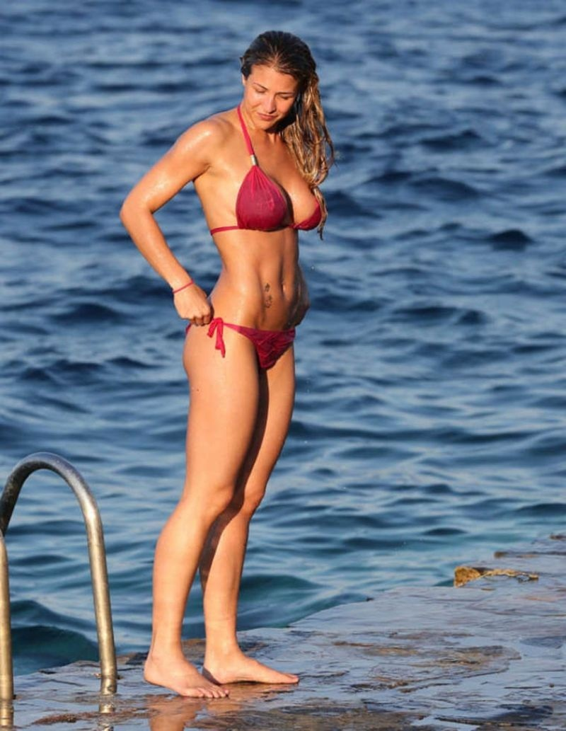 Gemma Atkinson In Pink Bikini March Gemma Atkinson