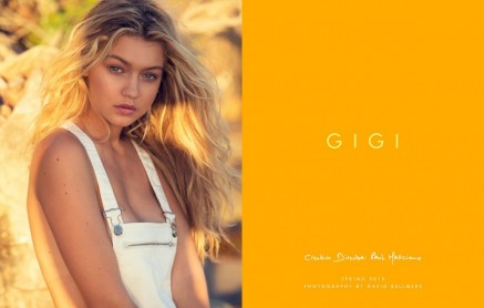 Gigi Hadid Poses For Guess Spring Denim Guess