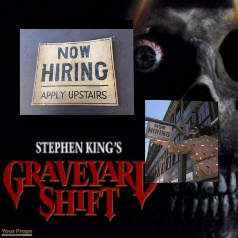 Graveyard Shift Stephen King Original Screen Used And Matched Sign Movie
