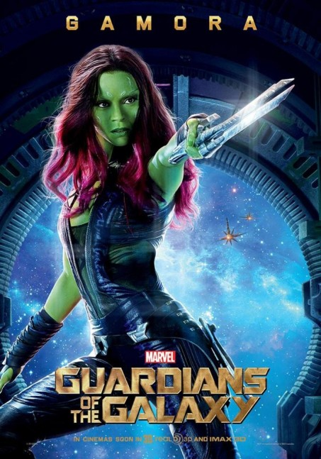 Guardians Of The Galaxy Character Poster Gamora Guardians Of The Galaxy