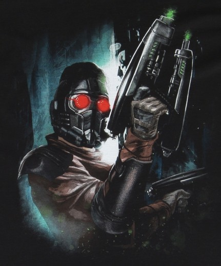 Guardians Of The Galaxy Star Lord Blaster Shirt Logo Starlord