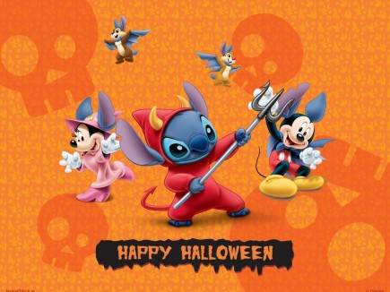 Disney Lilo And Stitch Friends Halloween Wallpaper Jxhy