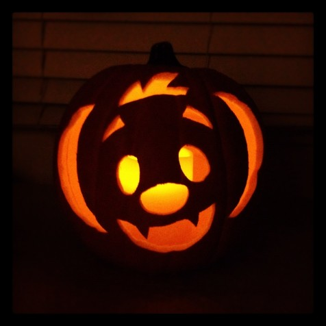 House Design Superb Pumpkin Carving Free Halloween Pumpkin Carving Stencils With Orange Electric Lamp And Hollowed Bat Face Handcrafting Creative Free Halloween Pumpkin Carving Stencils Pumpkin