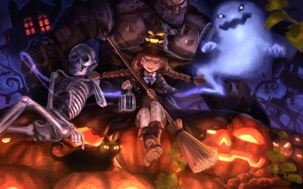 Nice Halloween Witch Holidays Background Witch