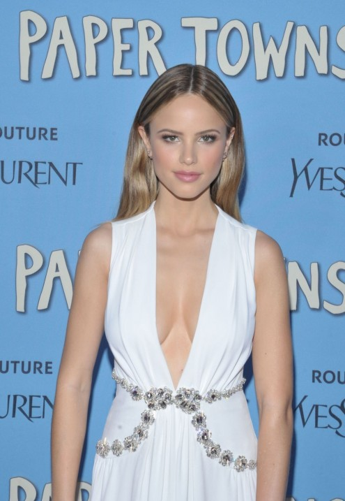 Halston Sage Attends The Paper Towns Premiere In New York City Paper Towns