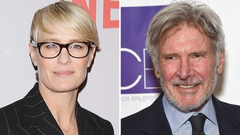 Robin Wright And Harrison Ford Harrison Ford