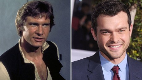 Young Harrison Ford In Star Wars And Alden Ehrenreic Split Harrison Ford