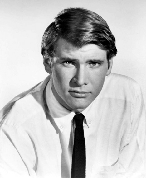 Young Harrison Ford In White Buttondown And Black Tie Photo Harrison Ford