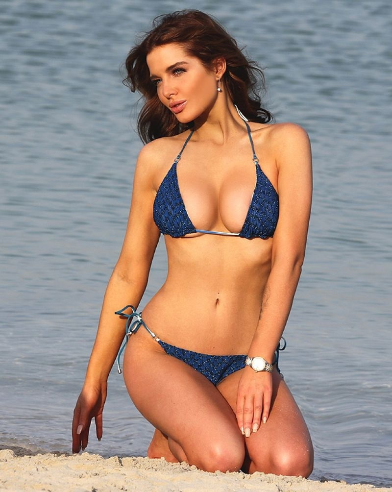Helen Flanagan In Blue Bikini In Dubai March Helen Flanagan
