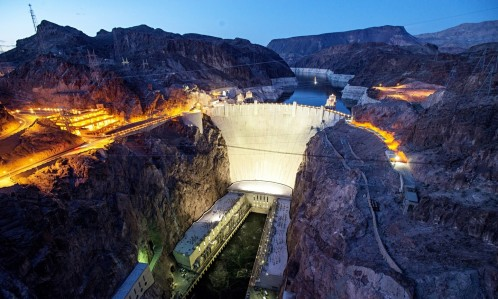 Hoover Dam At Night Hoover Dam