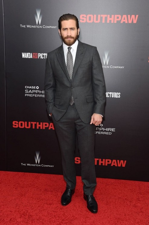 Jake Gyllenhaal At Southpaw Premiere In New York Southpaw