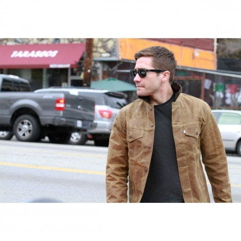Jake Gyllenhaal Beautiful Tan Fashion Leather Jacket Fashion
