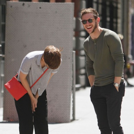 Jamie Bell And Kate Mara Out And About In New York