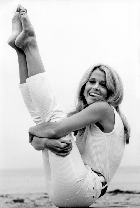 Famous Vintage Celebrity Yoga Jane Fonda American Actress Model Icon Body