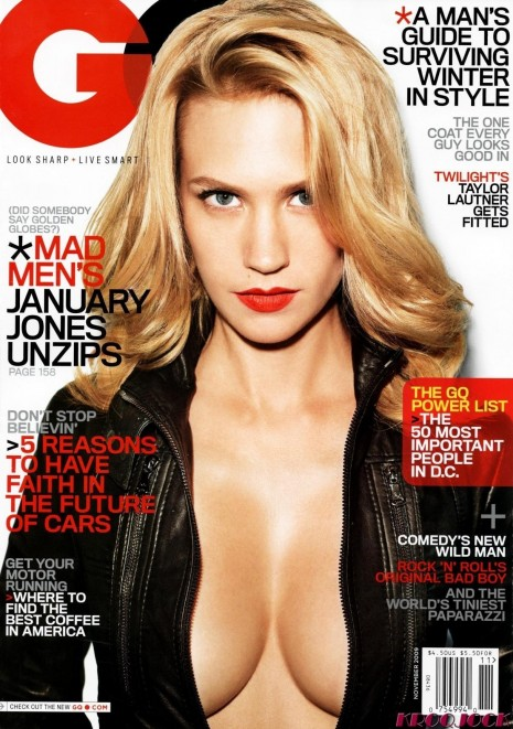 January Jones Gq November Scanned By Kroqjock Uhq Mad Men Caae Ef Fee Large Mad Men