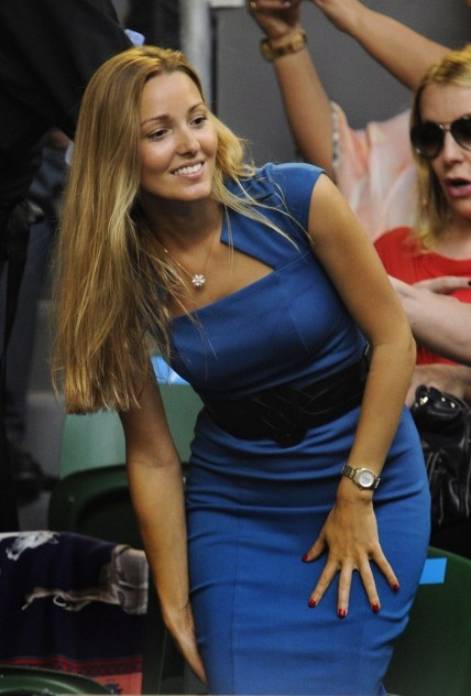 Jelena Ristic Djokovic Gf Cheers For Him At The Aussie Open Final Th January Jelena Ristic
