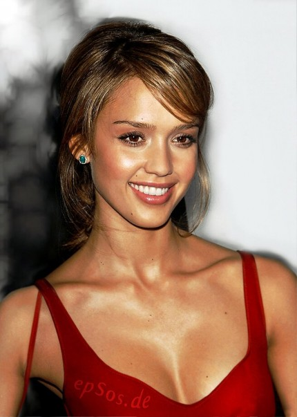 Jessica Alba With Short Haircut Hair