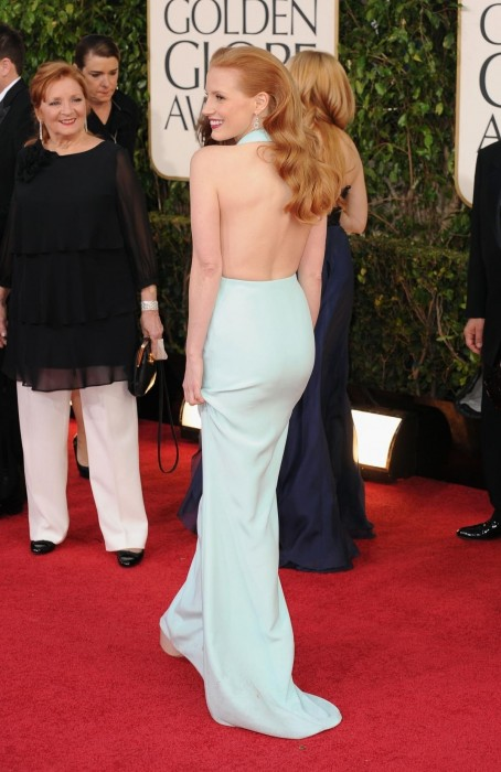 Adds Jessica Chastain Golden Globes Red Carpet Body Be Cca Faee Fd Big Body