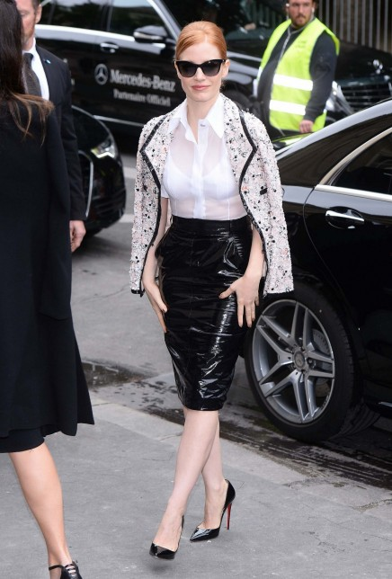 Jessica Chastain Arriving At The Chanel Fashion Show In Paris July Jessica Chastain