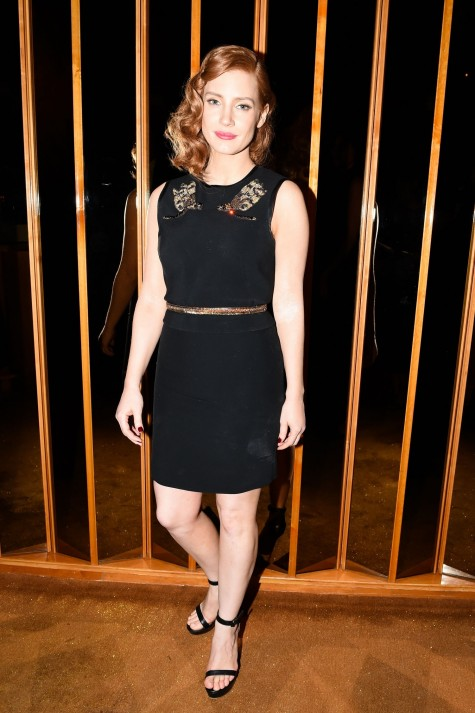 Jessica Chastain Black Dress Met Gala Afterparty Look Main