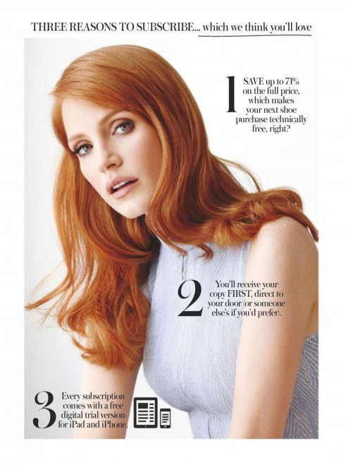 Jessica Chastain Instyle Uk Magazine July