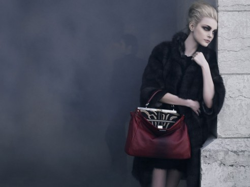 Jessica Stam For Fendi Fall Campaign By Karl Lagerfeld Wallpaper