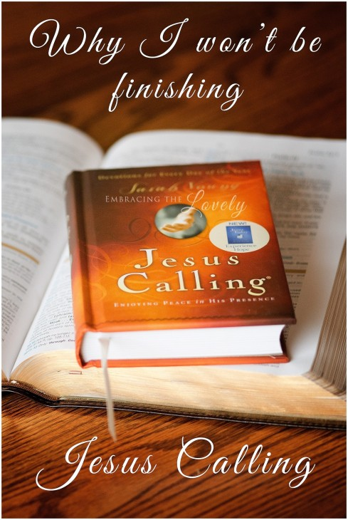Why Wont Be Fnishing Jesus Calling Vertical Jesus Calling