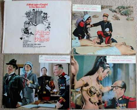 Carry On Follow That Camel Uk Set Of Front Of House Cards Jim Dale Kenneth Williams Jim Dale