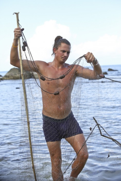 Joe Anglim Works With Fishing Net Survivor Second Chance Cbs